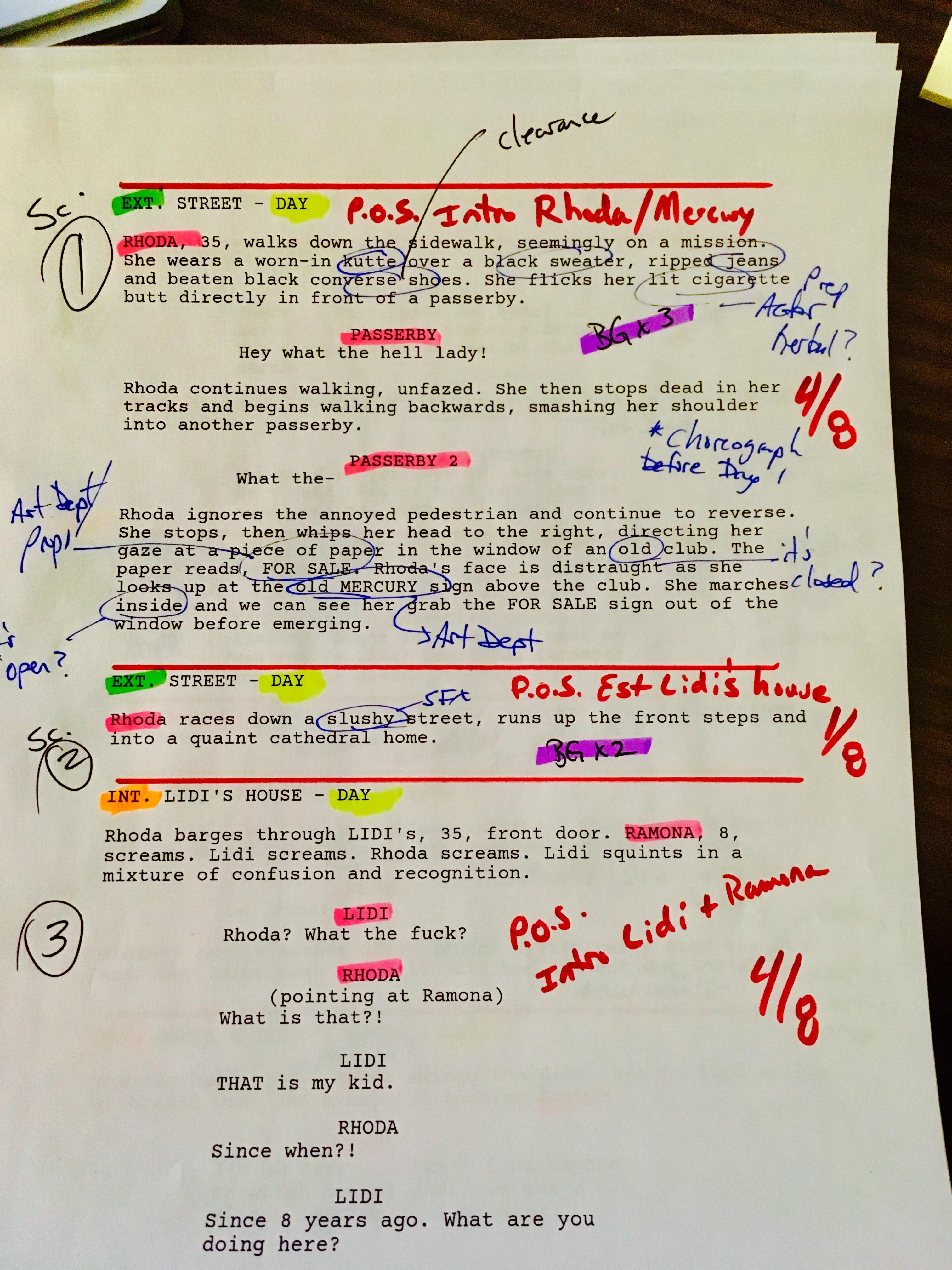 Script Breakdown Fits